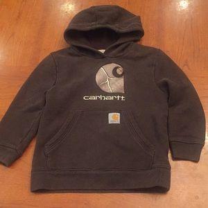 Carhartt brown hooded big C sweatshirt sz 6